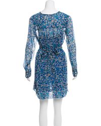 Étoile Isabel Marant - Blue Printed Mini Dress - Lyst