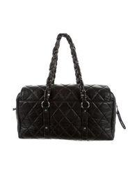 Chanel - Metallic Vintage Ligne Large Duffle Black - Lyst