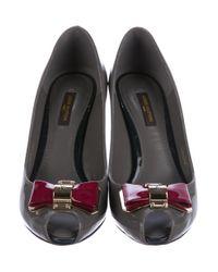Louis Vuitton - Gray Lou Open Toe Pumps W/ Tags Grey - Lyst