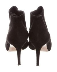 Gianvito Rossi - Black Suede Pointed-toe Ankle Boots - Lyst