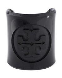 Tory Burch - Black Logo Resin Cuff - Lyst