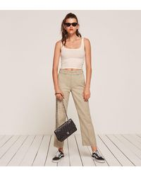 Reformation | Natural Work Pant | Lyst