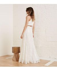 Reformation - White Harper Two Piece - Lyst