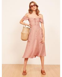 Reformation - Pink Francis Dress - Lyst
