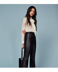 Reformation Black Annie Leather Pant
