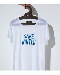 Reformation | White Winter Tee | Lyst