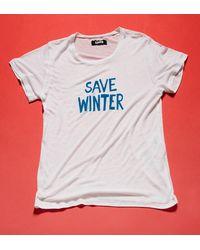 Reformation - White Winter Tee - Lyst