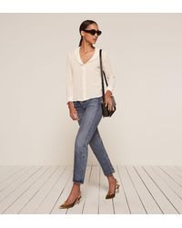 Reformation - White Betsy Top - Lyst