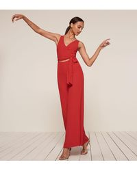Reformation - Red Patti Jumpsuit - Lyst