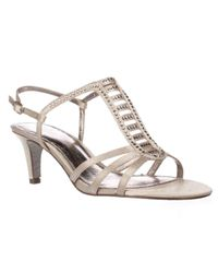 Adrianna Papell | Multicolor Ainsley Strappy Sparkle Dress Sandals | Lyst