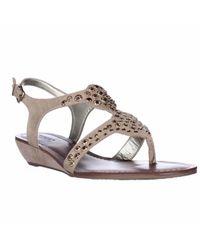 Carlos By Carlos Santana | Natural Mira Low-heel Wedge Sandals | Lyst
