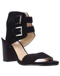Nine West | Black Galiceno Ankle Cuff Sandals | Lyst