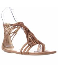Nine West | Natural Emberly Gladiator Sandals | Lyst