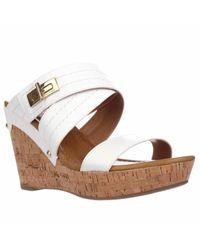 Tommy Hilfiger | White Mili2 Slide Wedge Platform Sandals | Lyst