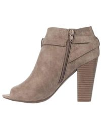 Guess - Natural G By Julep Peep Toe Ankle Booties - Lyst