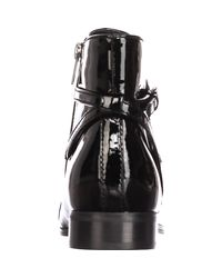 Ivanka Trump - Meria Ankle Boots, Black Patent - Lyst