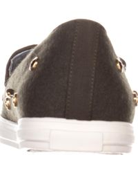 Nine West - Gray Shutout Slip-on Fashion Sneakers - Lyst