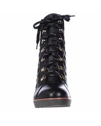 Kate Spade - Black Kate Spade Gianna Quilted Lace Up Ankle Boots - Lyst
