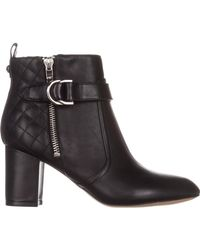 Marc Fisher - Weity Ankle Boots, Black Leatherb - Lyst