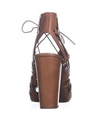 Jessica Simpson - Brown Emagine Lace Up Sandals - Lyst