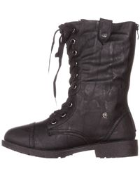 Wanted - Black Colorado Knit Combat Boots - Lyst