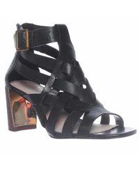 Pour La Victoire | Black Pandora Ankle Strap Strappy Sandals | Lyst