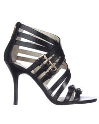 Michael Kors - Michael Ava Strappy Buckled Sandals - Black - Lyst