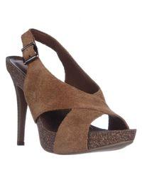 BCBGeneration | Gray Greer Slingback Platform Sandals | Lyst