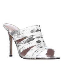 kate spade new york | Metallic Kate Spade Fission Mule Sandals | Lyst