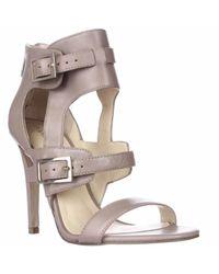 Ivanka Trump | Metallic Donalu Ankle Cuff Dress Sandals | Lyst