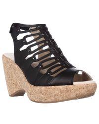 Jambu | Black Lillian Strappy Wedge Sandals | Lyst