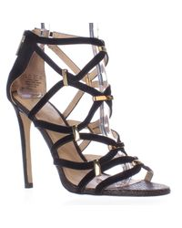 Carlos By Carlos Santana | Black Paulina Caged Dress Sandals | Lyst