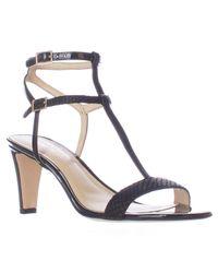 Nine West | Black Dacey T-strap Dress Sandals | Lyst