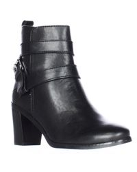 Lauren by Ralph Lauren | Black Lauren Ralph Lauren Cassy Cross Straps Ankle Boots | Lyst