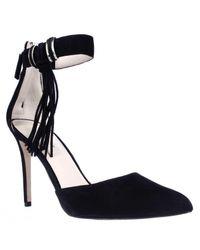 Nine West | Black Everafter Side Tassel D'orsay Ankle Strap Dress Pumps | Lyst