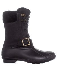 Sperry Top-Sider - Black Saltwater Misty Mid Calf Rain Boots - Lyst