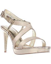 Adrianna Papell - Metallic Anette Platform Dress Sandals - Lyst
