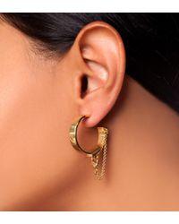 Eddie Borgo - Metallic Safety Chain Earring - Lyst