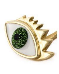 Delfina Delettrez - Green Eye Piercing Earring - Lyst