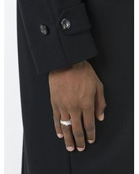 Maison Margiela - Multicolor Serrated Edge Ring for Men - Lyst