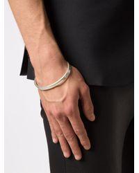 Maison Margiela - Metallic Logo Bracelet for Men - Lyst