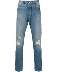 AMI | Blue Distressed Regular Fit Jeans for Men | Lyst