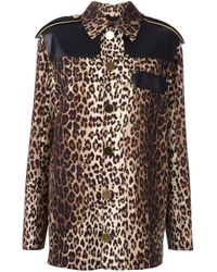 Givenchy | Multicolor Leopard Print Grain De Poudre Jacket | Lyst