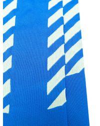 Off-White c/o Virgil Abloh - Blue Diag Long Socks for Men - Lyst