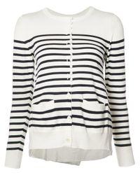 Sacai   Multicolor Striped Cardigan   Lyst