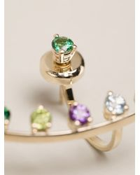 Delfina Delettrez - Metallic Multicolour Dots Earring - Lyst