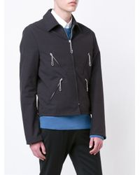 Maison Margiela - Black Zip Detail Harrington Jacket for Men - Lyst