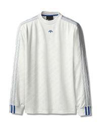 Alexander Wang - White Football Jersey Long Sleeve for Men - Lyst