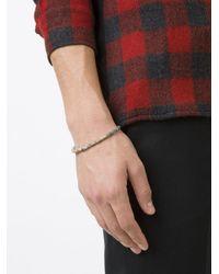 M. Cohen - White Beaded Bracelet for Men - Lyst