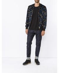 DSquared² - Multicolor Velvet Floral Bomber Jacket for Men - Lyst